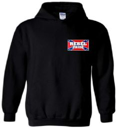 6 Bulk Black Color Hoody With Small Rebel Pride Sign Plus Size