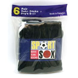 30 Bulk Boy's Tube Socks Size 9-11