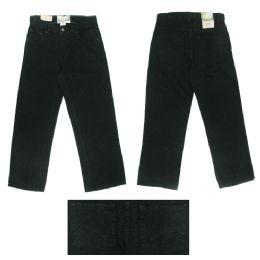 12 Bulk Boys 5pkt Denim Jeans W/ Back Embroidery Detail Size 14 Only