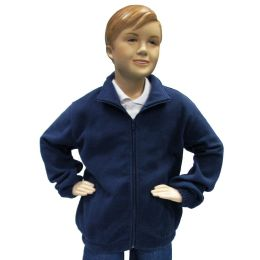 12 Bulk Boys Full Zip Polar Fleece Jacket Size 12 Only