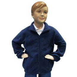 12 Bulk Boys Full Zip Polar Fleece Jacket Size 18 Only