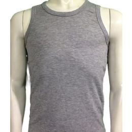 36 Bulk Boys Tank Top Size 1-3 In Assorted Colors Green/black/grey