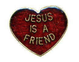 """96 Bulk Brass Hat Pin, """"jesus Is A Friend"""""""