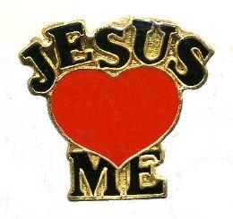 "96 Bulk Brass Hat Pin, ""jesus (loves) me"