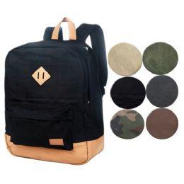 4 Bulk Canvas Backpack In Brown