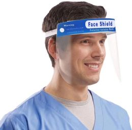 100 Bulk Clear Medical Full Face Protection Shield With Elastic Band