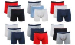 36 Bulk Cotton Stretch Men's Boxer Short Assorted Colors Size L