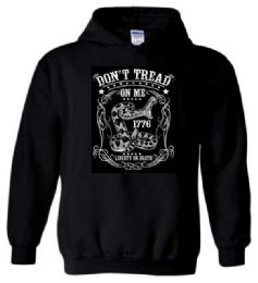 6 Bulk Don't Tread On Me Liberty or Death Black Color Hoody Plus Size