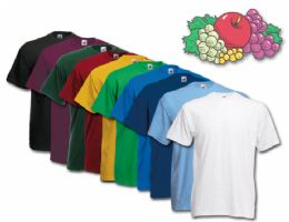 72 Bulk Fruit Of The Loom Mens 100% Cotton Assorted T Shirts, Assorted Colors Size Xxl