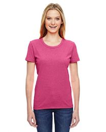 72 Bulk Fruit Of The Loom Womens Assorted Color Crew Neck T Shirts, Size L