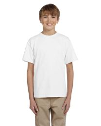 72 Bulk Fruit Of The Loom Youth Boys White T Shirts - Size 6/8