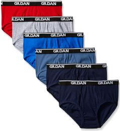 25 Bulk Gildan Mens Briefs, Assorted Colors First Quality SIZE 2XL ONLY