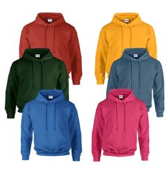 24 Bulk Gildan Unisex Mill Graded Irregular 2ND Hooded Pullover Sweat Shirts