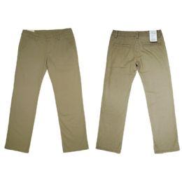 12 Bulk Girls Stretch Adj. Waist Twill School Pants Size 14