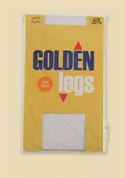 72 Bulk Golden Legs Kids Tights Size 12-14 In White