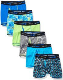 36 Bulk Hanes Boys Boxer Brief Assorted Prints Size Large