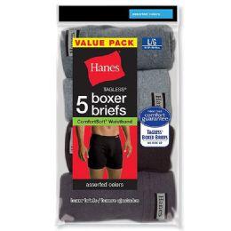 120 Bulk Hanes Mens Assorted Colors Boxer Brief Size L