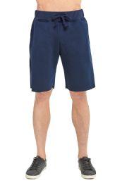 12 Bulk Knocker Men's Fleece Shorts In Navy Size Xx Large