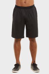 24 Bulk Knocker Mens Athletic Shorts In Black Size Large