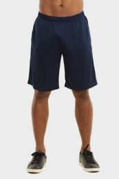 24 Bulk Knocker Mens Athletic Shorts In Navy Size M