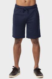 12 Bulk Knocker Mens Lightweight Terry Shorts In Navy Size Large