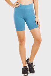 """48 Bulk Ladies Cotton 15"""" OuT-Seam Shorts With Wide Waistband In Size Medium"""