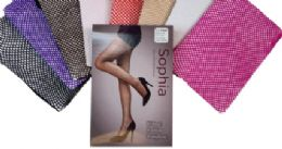48 Bulk Ladies' Fishnet Pantyhose Queen Size In Purple