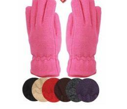 24 Bulk Ladies Thermal Fleece Glove Black Only