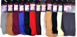 72 Bulk Ladies' Trouser Socks In Burgandy One Size