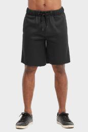 12 Bulk Libero Mens Fleece Shorts In Black Size X Large
