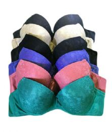 9179b61edcc70 Wholesale Mamia Ladys A-Cup Underwire Padded Bra Size 34 A Assorted Colors