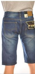 24 Bulk Fashion Denim Shorts Medium Blue Color In Assorted Sizes