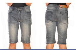 24 Bulk Denim Shorts Solid Color In Assorted Sizes