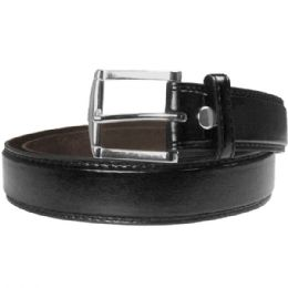 48 Bulk Men Belt Large Black