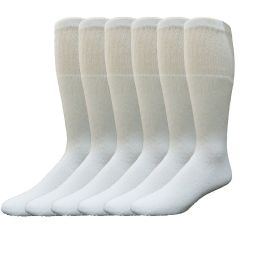 4464 Bulk Yacht & Smith 31 Inch Men's Long Tube Socks, White Cotton Tube Socks Size 10-13
