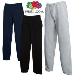 24 Bulk Men's Fruit Of The Loom Sweatpants, Size Medium
