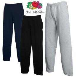 24 Bulk Men's Fruit Of The Loom Sweatpants, Size Large