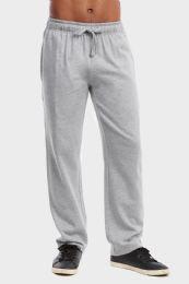 36 Bulk Men's Lightweight Fleece Sweatpants In Heather Grey Size L