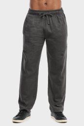 36 Bulk Men's Lightweight Fleece Sweatpants In Charcoal Size L