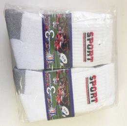 72 Bulk Men Soccer Socks/size 10-13