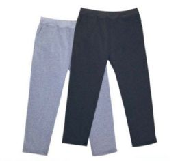 48 Bulk Mens Athletic Pants Size Large In Black And Grey