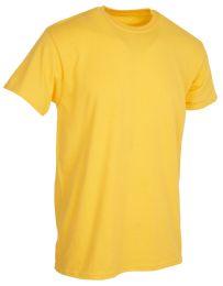 36 Bulk Mens Cotton Short Sleeve T Shirts Solid Yellow 3XL