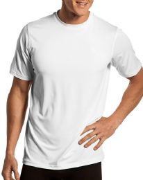 36 Bulk Mens Cotton Short Sleeve T Shirts Solid White Size L