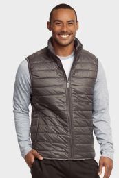 12 Bulk Mens Lightweight Puffer Vest Size Large