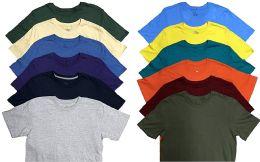 12 Bulk Mens Plus Size Cotton Crew Neck Short Sleeve T Shirt, Assorted Colors, Size 6XL