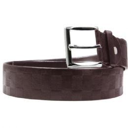 24 Bulk Mens Snake Print Black Leather Dress Belt