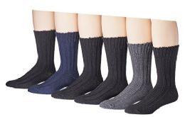 60 Bulk Mens Thick Warm Wool Winter Socks