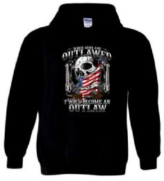 12 Bulk Outlawed I will Become An Outlaw Black Hoody