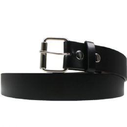 36 Bulk Small Black Plain Belt