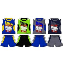 48 Bulk Spring Boys Close Mesh Short Sets Size 4-7